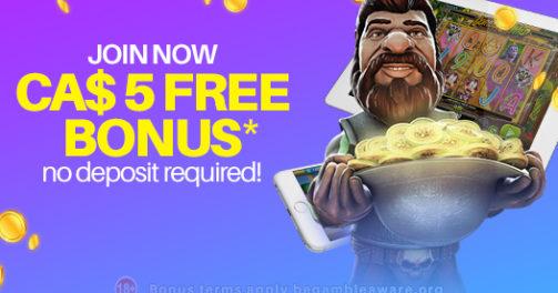 CA$5 Free No Deposit Bonus